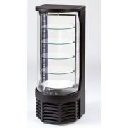 Espositore per pasticceria refrigerato TecFrigo 5 piani rotanti in vetro Capacità lt 100 Temperatura +4 +19°C Dim. L430XP400XH1090 Modello GOLOSO