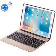 F06 for iPad Pro 9.7 inch Portable Foldable Aluminium Alloy Wireless Bluetooth Backlight Keyboard(Gold)