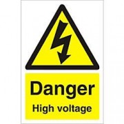 Unbranded Warning Sign High Voltage PVC 60 x 40 cm
