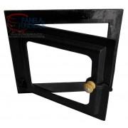 Porta de ferro grande com vidro reto para forno