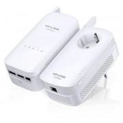 Kit Adaptoare Powerline TP-Link TL-WPA8630 KIT, Gigabit, Dual Band, 1200 Mbps, 2 Bucati (Alb)
