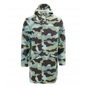 Rains Regenjassen AOP Long Jacket Blauw