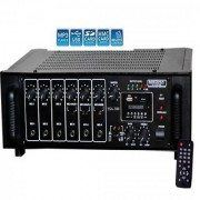 MEDHA 300 WATT PROFESSIONAL HIGH POWER P.A. AMPLIFIER WITH DIGITAL MEDIA PLAYER
