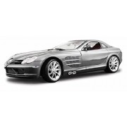 Mercedes Benz SLR McLaren, Silver - Maisto Premiere 36653 - 1/18 Scale Diecast Model Toy Car