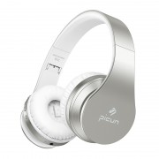 PICUN B16 Adjustable Wireless Bluetooth Headphone Over-ear Headset Support TF Card / Aux-in - Silver