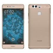 Husa Full TPU 360 (fata spate) pentru Huawei P9 Plus Gold transparent