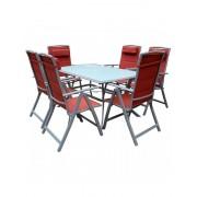 Baštenski set Florence - sto i 6 stolica