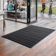 Antracitová textilní vstupní vnitřní čistící rohož Pasáž - délka 135 cm, šířka 90 cm a výška 0,9 cm