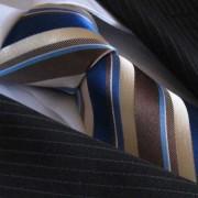 Distino Of Melbourne The Morning Latte Seven Fold Silk Necktie SF8