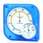 General de interior + exterior Bateria-Libre Plastico Termometro higrometro - azul + blanco