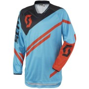 Scott 350 Track Camiseta de Motocross 2016 Negro Azul Naranja M