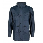 Rains Regenjassen Four Pocket Jacket Blauw