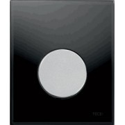 Clapete de actionare pisoar TECE Neagra, buton cromat mat