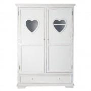 Maisons du Monde Armadio bianco in legno L 130 cm Valentine