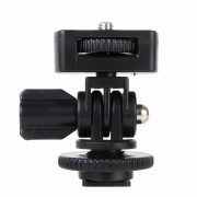 "1/4 ""SchroefShoe Mount Adapter Instelbare Hoek Pole Voor DSLR Camera LED Flitslicht Monitor"