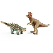 Schleich North America Saichania & Giganotosaurus Toy Figure, Small