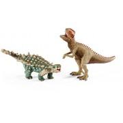 Schleich North America Saichania & Giganotosaurus Toy Figure, Small