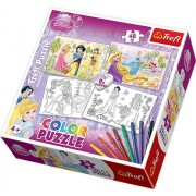 Color Puzzle Disney Princess Jigsaw Puzzles 2 x 48 Pieces