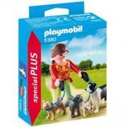 Комплект Плеймобил 5380 - Момиче с кучета, Playmobil, 2900059
