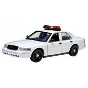 Green Light Collectibles Ford Crown Nypd Victoria Interceptor Vehicle With Lights & Sound (1:18 Scale), White