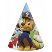 Mancs őrjárat party kalap, csákó, 6 db/csomag