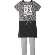 bpc bonprix collection Boxy-topp + klänning + leggings (3-delat set)