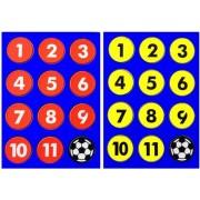 Piri Sport Platte Magneten Voetbal 24 Stuks