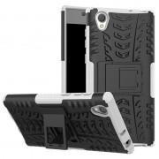 Capa Híbrida Antiderrapante para Sony Xperia L1 - Preto / Branco