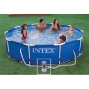 Intex - Басейн метална рамка 305 х 76см с филтърна помпа