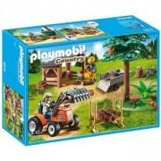 Комплект Плеймобил 6814 - Двор за дървен материал с трактор, Playmobil, 2900106