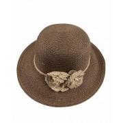 Palarie de vara Maro-Inchis Fashion cu floare