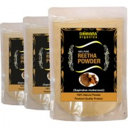 Donnara Organics 100% Natural Reetha Powder Combo pack of 3 of 150 gms(450 gms)