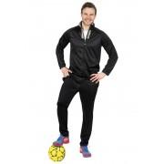 Donnay Trainingsanzug, 2-teilig, schwarz/grau, Gr. M