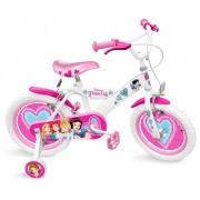 """Bicicleta pentru fetite 16"""" cu roti ajutatoare, ghidon si scaun ajustabil Disney Princess"""