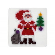Hama strijkkralen grondplaat kerstman