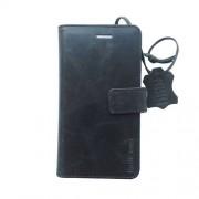 Radicover Mobilcover iPhone 7 sort Exclusive , flipside, ægte læder, gedeskind - 1 Stk