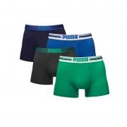 Puma boxershorts Placed Logo 4-pack Blauw/Groen-M