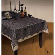 Geen Spinnenweb kanten tafellaken/tafelkleed 152x213 cm herbruikbaar