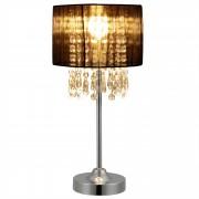 [lux.pro]® Asztali lámpa Bellevue éjjeli lámpa design 40 x ø 20 cm fekete