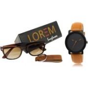 Rudra Fashion Analog Watch, Wrap-around Sunglass Combo(Multicolor)