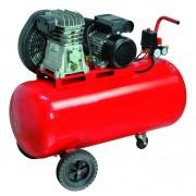 Compressore aria professionale 100 lt / 220v / 2 cilindri / trasmissione cinghia / hp.2