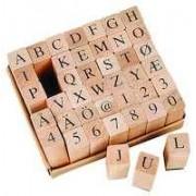 Stämpelset alfabetet 13x13mm