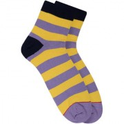 Soxytoes Nice Nice Babies Purple Cotton Ankle Length Pack of 1 Pair Striped for Men Casual Socks (STS0007E)