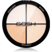 Gosh Strobe'n Glow paletă pentru contur și iluminare culoare 001 Highlight 15 g