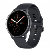 LEMFO SG2 Full Touch AMOLED Screen Smart Watch IP68 Waterproof Heart Rate BT 5.1 Smartwatch - Black