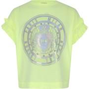 River Island Girls Neon green embellished T-shirt (5-6 Yrs)