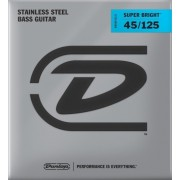 Dunlop DBSBS45125 Stainless Steel Bass Guitar Strings, Medium
