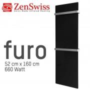 ZenSwiss furo (Farbe: Glanz Schwarz, Format: 52 x 160 cm)