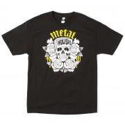 utcai póló férfi - GRUMBLE - METAL MULISHA - M345S18328.01_BLK