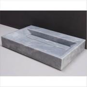 forzalaqua Waschbecken Naturstein BELLEZZA (80,5 cm) Marmor, ohne Hahnloch, 100325